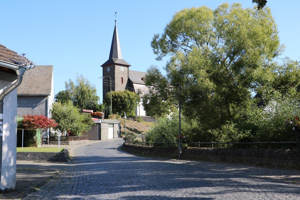 Ortskern von Niederdresselndorf in der Gemeinde Burbach