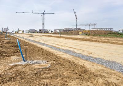 Baustelle im Neubaugebiet