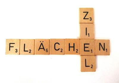 Scrabbel: Die Worte Flächen und Ziel