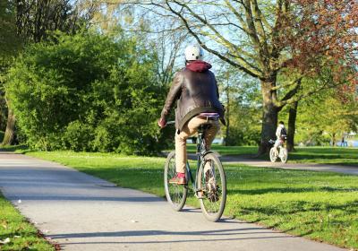 Fahrradweg in Hamburger Grünfläche