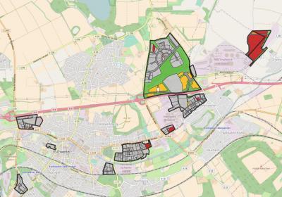 Screenshot des Gewerbeflächen-Informationssystems